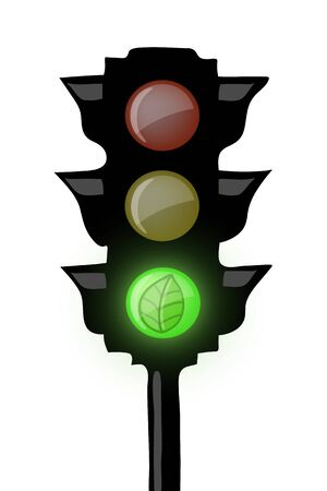 Traffic light ecological Vector