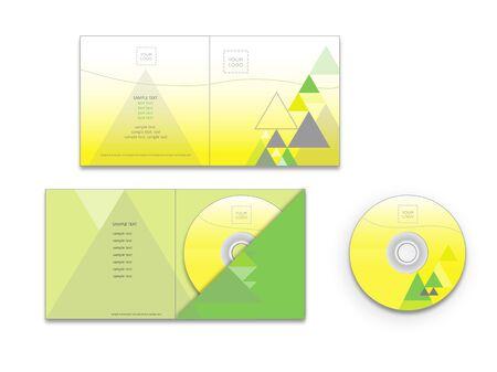 envelope design: CD cover and envelope design Illustration