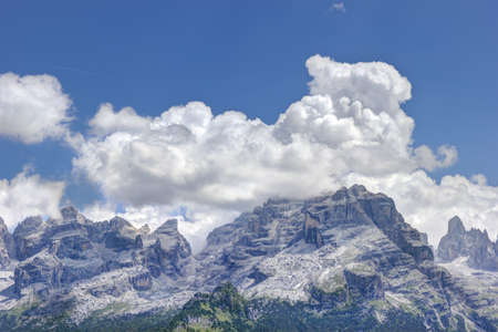 Landscape with natural Dolomites mountain in Italy
