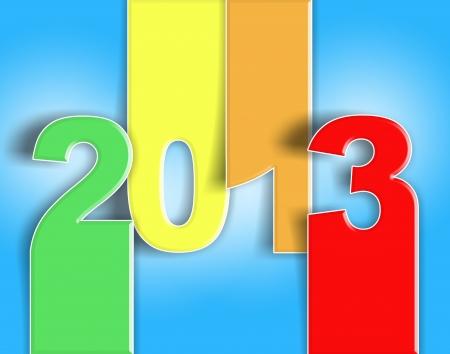 Buon anno nuovo, auguri colorato 2013 - card