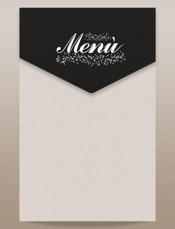 Menu natale capodanno rosso nero bianco elegante Stock Photo - 16854930