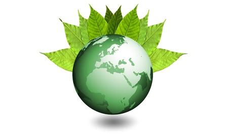 Mondo naturale ecologico - verde bio Stock Photo