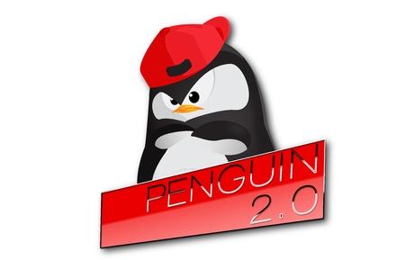 Penguin 2 0 update Search Engine Optimization Blog Spam news Stock Photo