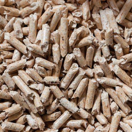 Houten pellet textuur. Vierkante samenstelling. Stockfoto - 89454319