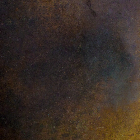 Rusted metal sheet. Square composition.