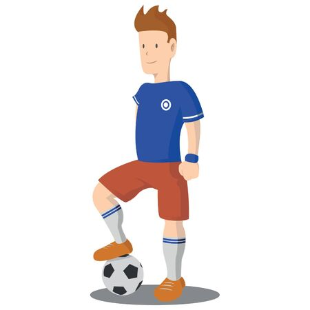 striker: Soccer player vector illustration