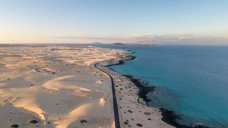 aerial view of fuerteventura coast, canary islands
