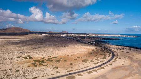 aerial view of the Corralejo coast, fuerteventura