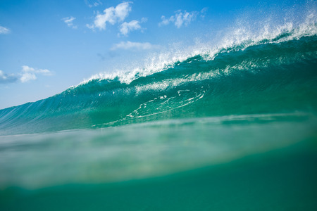 great wave that breaks on the west coast of Fuerteventura, canary islands Stock Photo