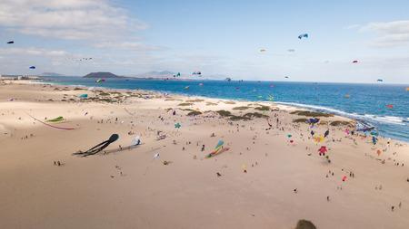 thirty-first international kite festival, fuerteventura canary islands 2018-11-10 Editorial
