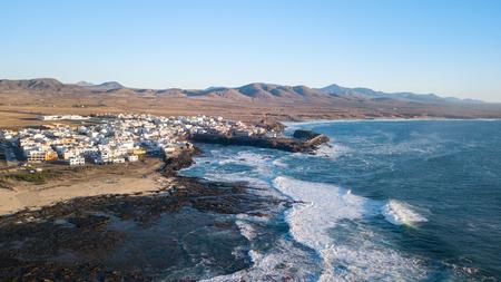 aerial view of the El Cotillo coast, fuerteventura canary islands Stock Photo