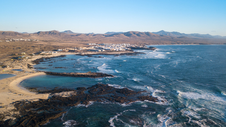 aerial view of the El Cotillo coast, fuerteventura  canary islands spain Stock Photo
