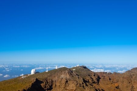 View Of Observatories From Top Of Roque De Los Muchachos, La Palma