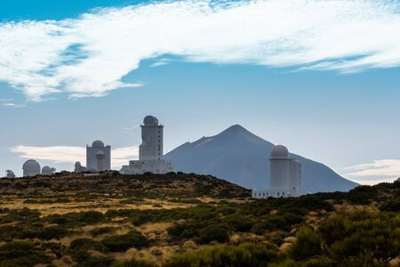 A road in to Astronomical observatory in La Palma, Tenerife 스톡 콘텐츠