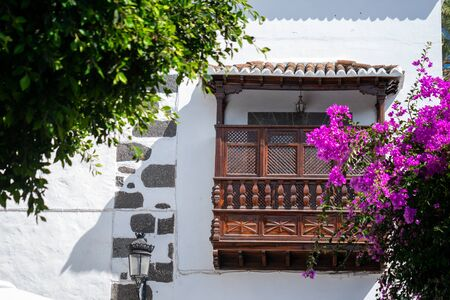 traditional balcony of a colonial style house