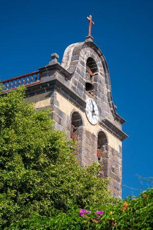 facade of the church de los llanos de aridane