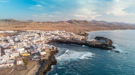 Aerial view of El Cotillo bay, fuerteventura. Canary islands Reklamní fotografie