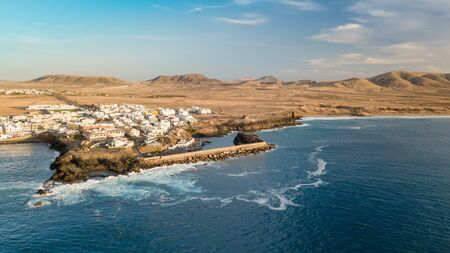 Aerial view of El Cotillo bay, fuerteventura. Canary islands Stock Photo