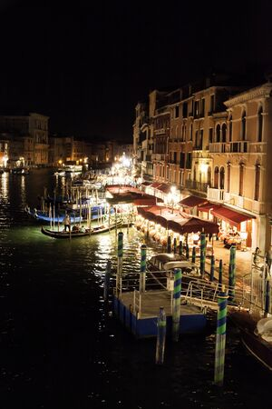 grand canal: Grand canal night scene in Venice, Italy