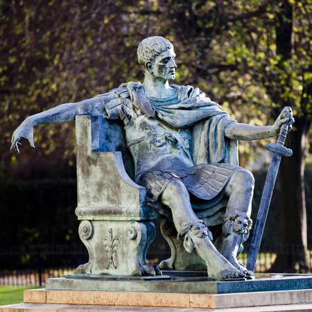 constantine: A statue of roman emperor Constantine I outside York Minster