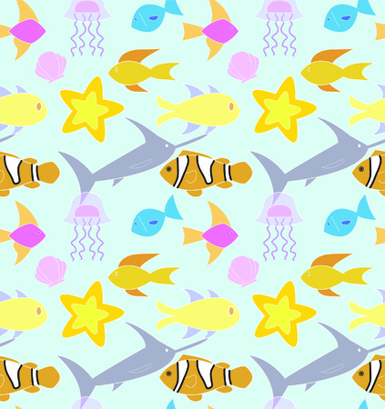 Colorful ocean pattern. Vector