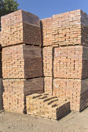 briks: The bricks arranged on pallets