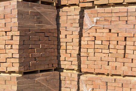 pallets: The bricks arranged on pallets .