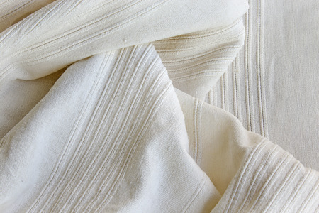 creasy: White cotton fabric as a background.