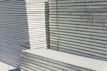 thermal insulation: Thermal insulation boards in a pile.
