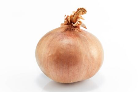 onion isolated: Onion isolated on white close-up.