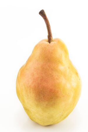 appetising: Ripe pear isolated on white.