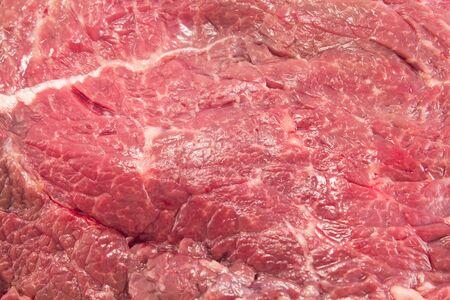 rump steak: Horse rump steak close up.