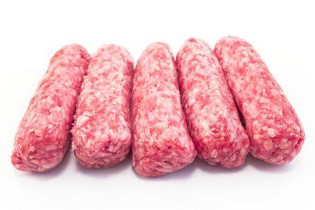 kebab: Raw kebabs made from pork meat.