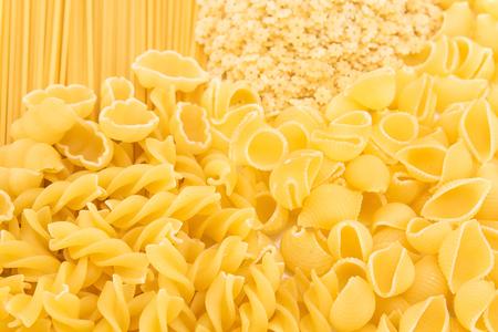 versatile: Versatile Italian pasta a pile. Stock Photo