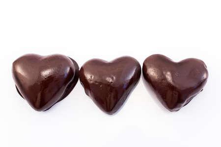 infatuation: Heart gingerbread cookies glazed chocolate.