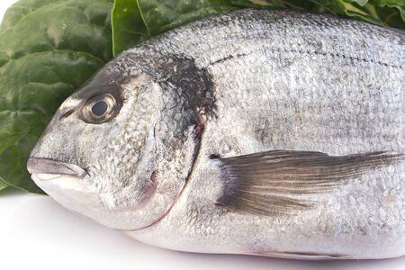 dinners: Fish dorade with swiss chard.