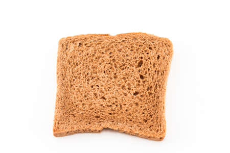 wheat toast: Whole wheat toast isolated on white.