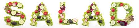 Wortsalat Salat aus. Standard-Bild - 58716656