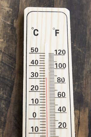 fahrenheit: Mercury Thermometer with Celsius and Fahrenheit Degrees.