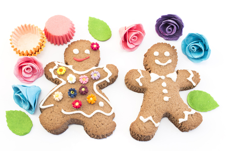 gingerbread man: Gingerbread Man and Woman Cookies.
