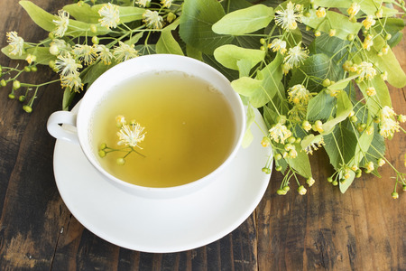 Linden Tea with Flower Lime. Standard-Bild - 101544283