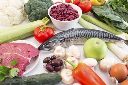 Healthy Food Recommended for Diabetes and Hypertension. Standard-Bild