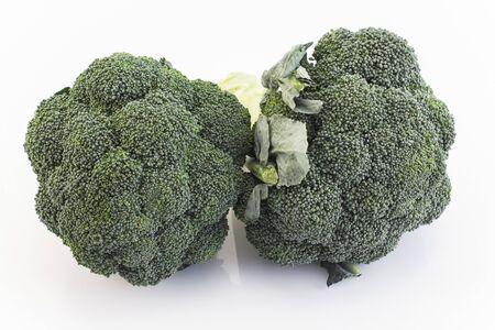 Fresh Broccoli Isolated on White.