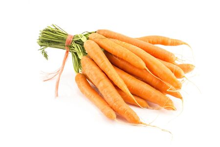 Fresh Carrots Isolated on White.
