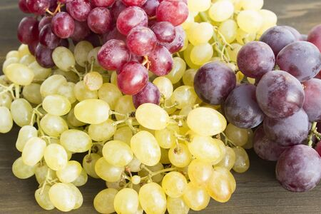 Red and Green Seedless Grapes.