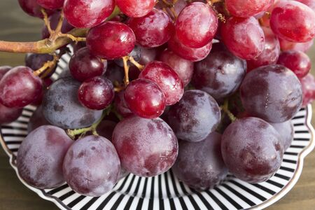Cardinal and Red Sultana Seedless Grapes.