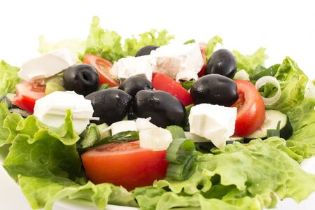 Fresh Delicious Salad with Olives.