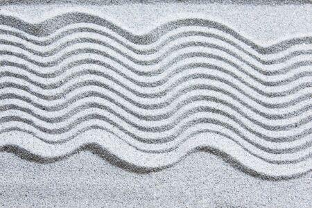 Zen Pattern in Sand of Zen Garden.
