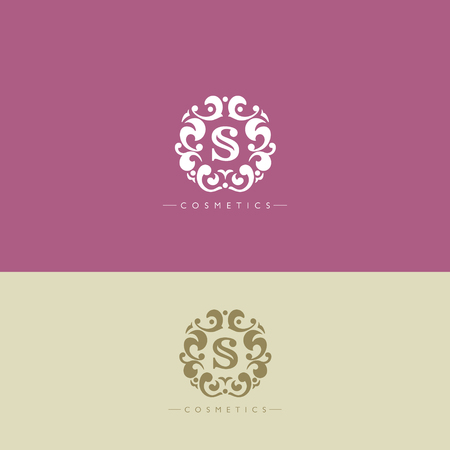 king s: Boutique Brand, crests logo, S letter logo, Cosmetic logo, tracery, king, hotel, fashion, luxury brand logo template Illustration