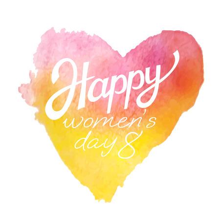 Elegant greeting card design for International Womens Day celebration.